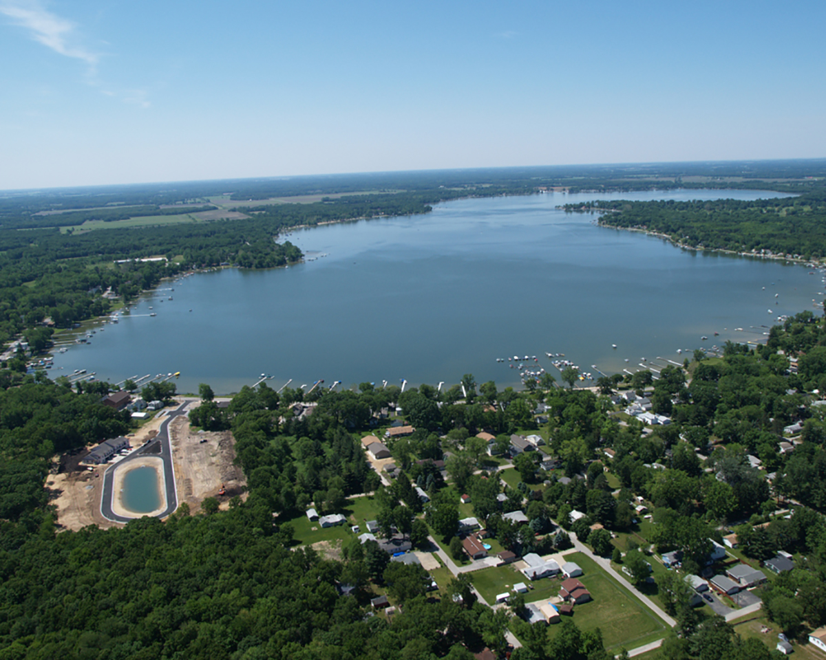 Aerial of Bass Lake