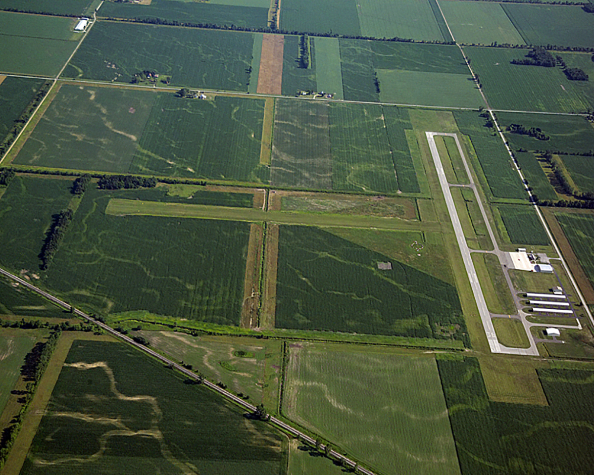 Aerial of Starke County Airport